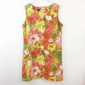 Talbots Watercolor Floral Shift Dress sz 16